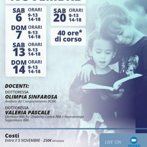 Locandina RBT Novembre 2021 - Aba for Disability Centro ABA e Neuroscienze
